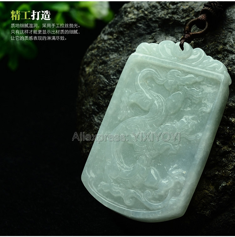 Pretty Handwork Natural Light Green Grade A Jadeite Carved Dragon Lucky Amulet Pendant + Free Necklace Certificate Fine JewelryPretty Handwork Natural Light Green Grade A Jadeite Carved Dragon Lucky Amulet Pendant + Free Necklace Certificate Fine Jewelry