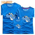 2017 New Arrival Dinosaur Family Matching Outfits Clothing T-shirt For Mom Dad Son Mother and Daughter Clothes Baby T shirts Top