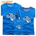 2017 Nueva Llegada de La Familia de los Dinosaurios Juego Trajes Ropa Camiseta Para mamá Papá Hijo Madre e Hija de Ropa camisetas Bebé T Top