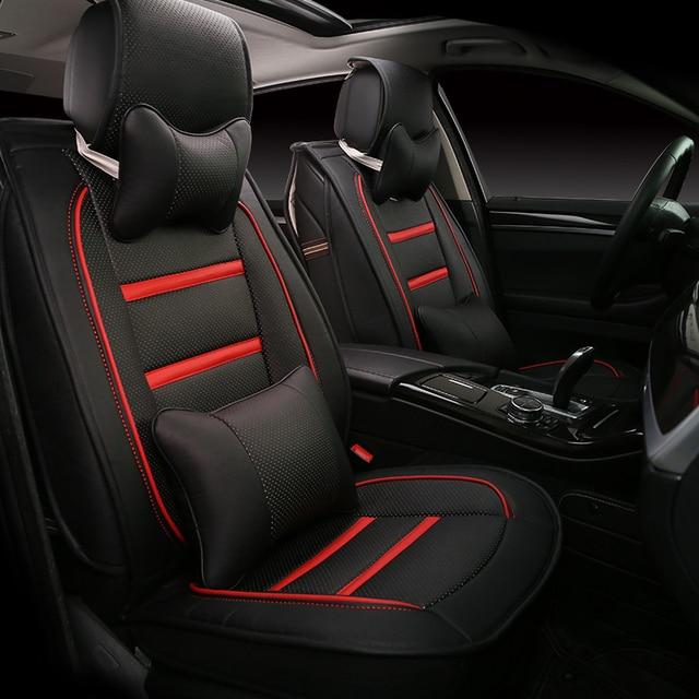 3D Styling tampa de assento do carro para Renault Scenic Fluence Latitud Koleos Laguna Megane cc talismã, Alta - de fibras de couro, Carro - cobre