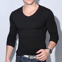 Новая модная мужская облегающая футболка с длинным рукавом и круглым вырезом, повседневная облегающая футболка, стильная мужская одежда