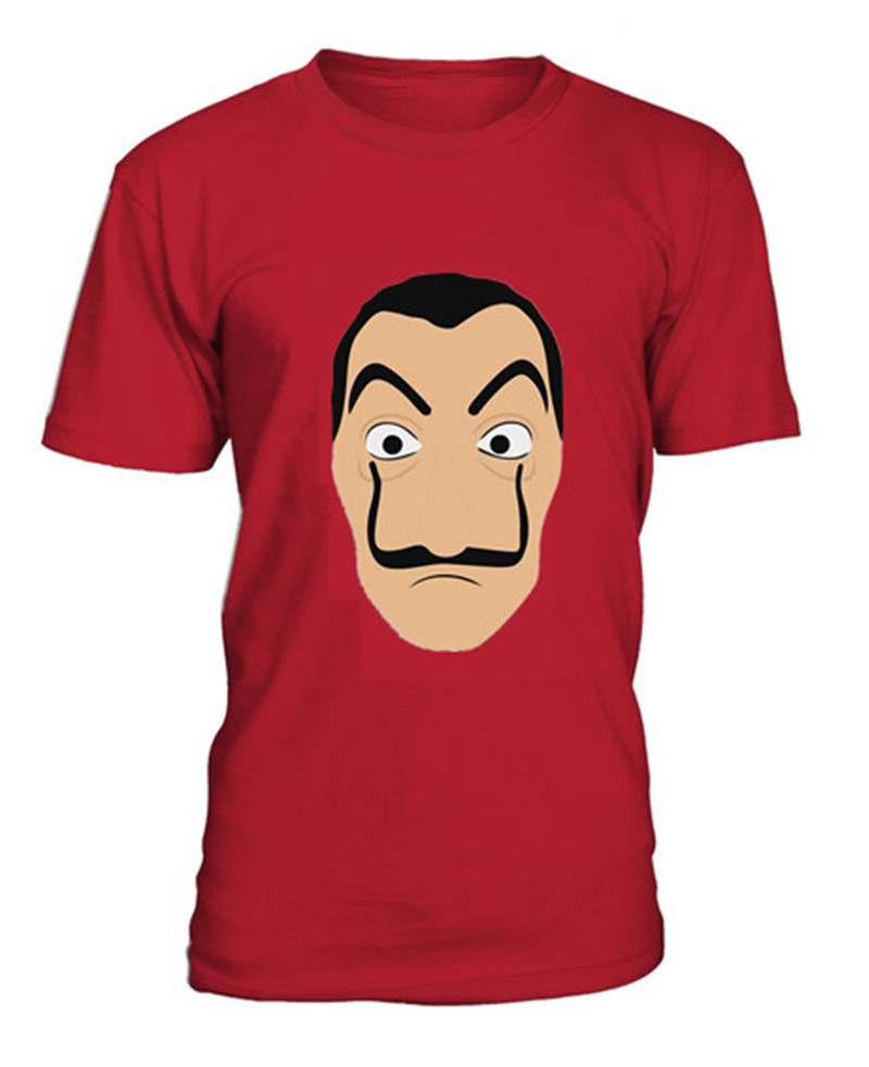 NEW La Casa De Papel Mask Money Heist T Shirt for Men