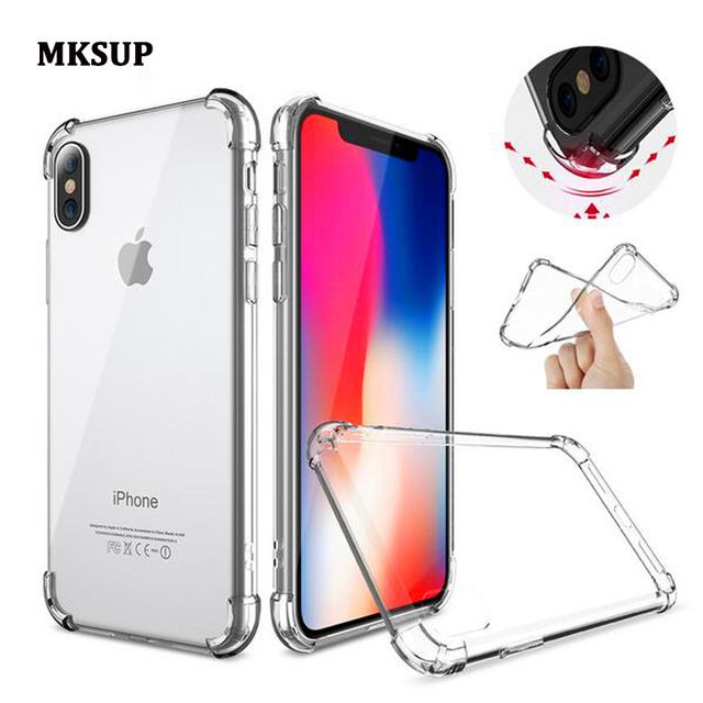 size 40 30b9f 85450 US $129.0 |100Pcs For iphone X Case Premium Slim Clear Shock Absorption  Reinforced Corner Drop Protection Back Cover Case For iPhone X 5.8