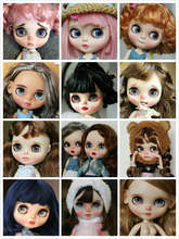 customization doll DIY Nude joint body blyth doll For Girls not include clothes The eye chips are random, the hair can choose(China)