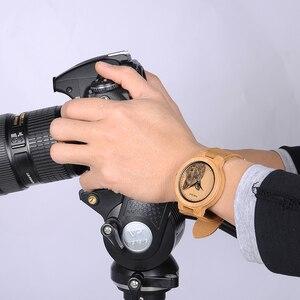 Image 5 - Мужские бамбуковые часы BOBO BIRD, специальные дизайнерские реалистичные деревянные наручные часы с УФ принтом и циферблатом, часы для мужчин, подарок