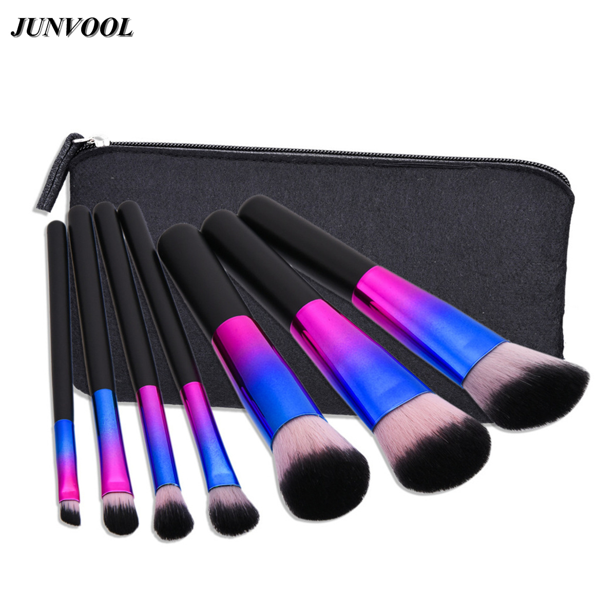 7pc Makeup Brush Set Dazzle Glitter New Colorful Pinceaux Maquillage Beautiful Powder Blush Eyeshadow Make Up Brushes with A Bag new colorful 7 pcs makeup brush set professional pinceaux maquillage beautiful powder blush eyeshadow make up brushes with bag