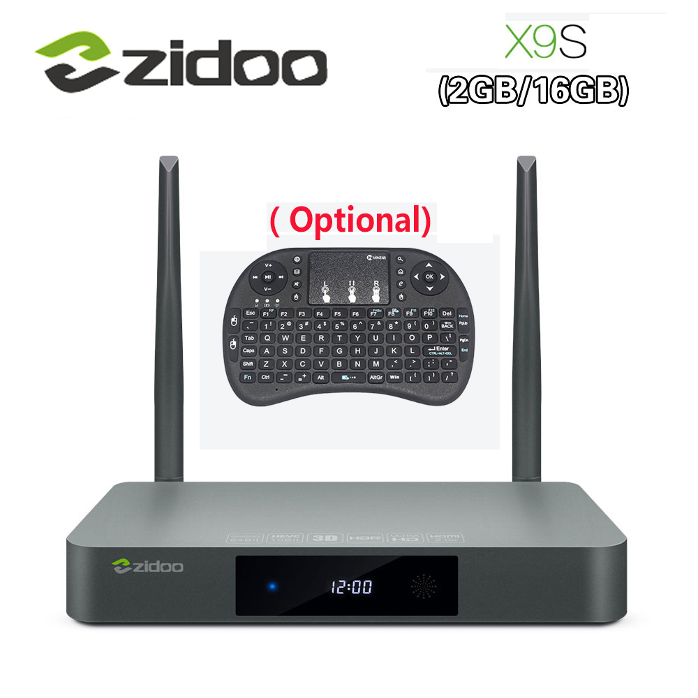 Original Zidoo X9S Smart TV BOX Android 6 0 OpenWRT NAS Realtek RTD1295 2G 16G 802