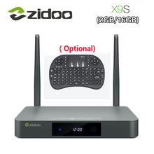 Оригинальный zidoo X9S Smart TV Box для Android 6.0 + OpenWRT (NAS) Realtek RTD1295 2 г/16 г 802.11ac WI-FI Bluetooth 1000 м LAN media player
