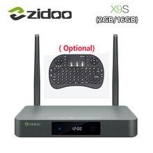 Оригинал zidoo x9s smart tv box для android 6.0 + openwrt (nas) realtek rtd1295 2 г/16 г 802.11ac wi-fi bluetooth 1000 м lan media player