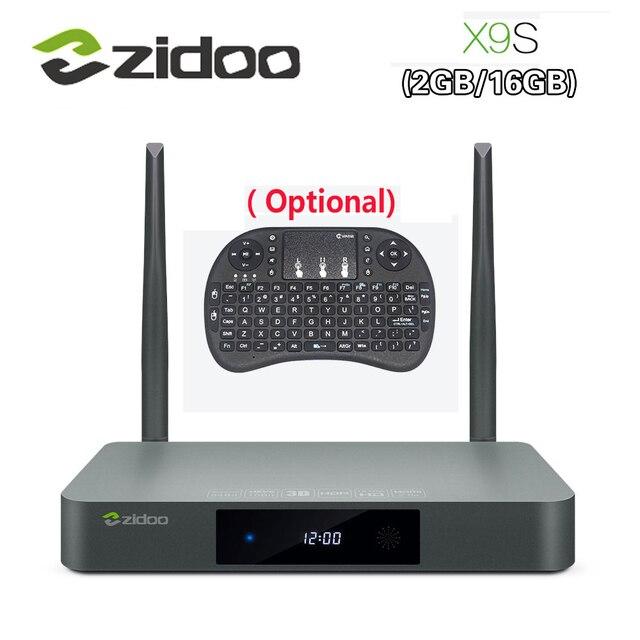 Original x9s smart tv box android 6.0 + openwrt zidoo (nas) realtek rtd1295 2g/16g 802.11ac wi-fi bluetooth 1000 m lan media player