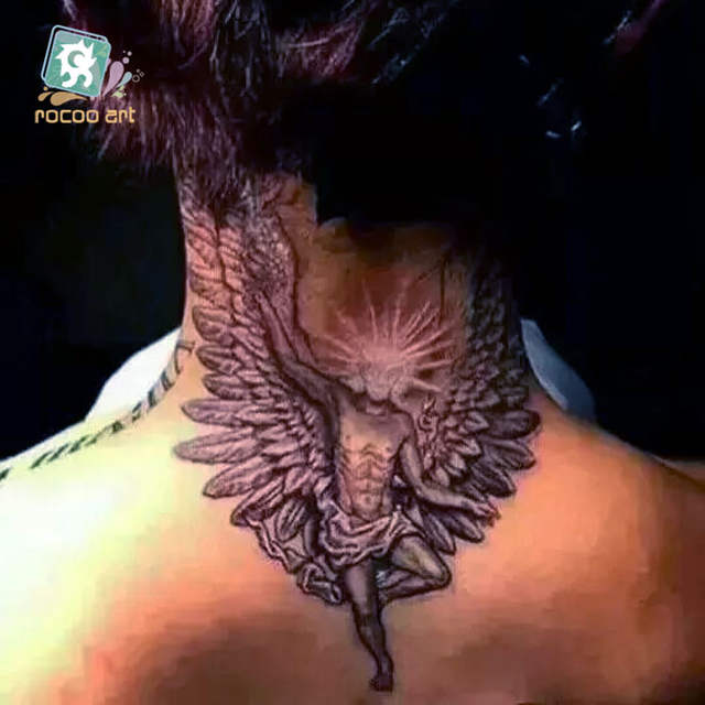 Online Shop 8 Different Styles Devil Hole Cool Feather Wings Tattoo