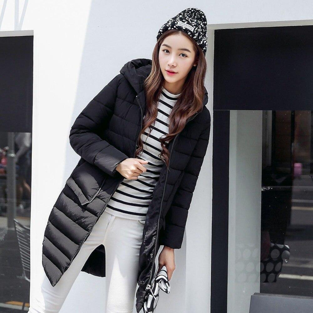 2016 Ördek Aşağı Ceket Kadınlar Pamuk Uzun Sıcak Kadın Kanada ceket Manteau Femme Bayan Lol Parka Açık Gevşek Palto Giyim abd