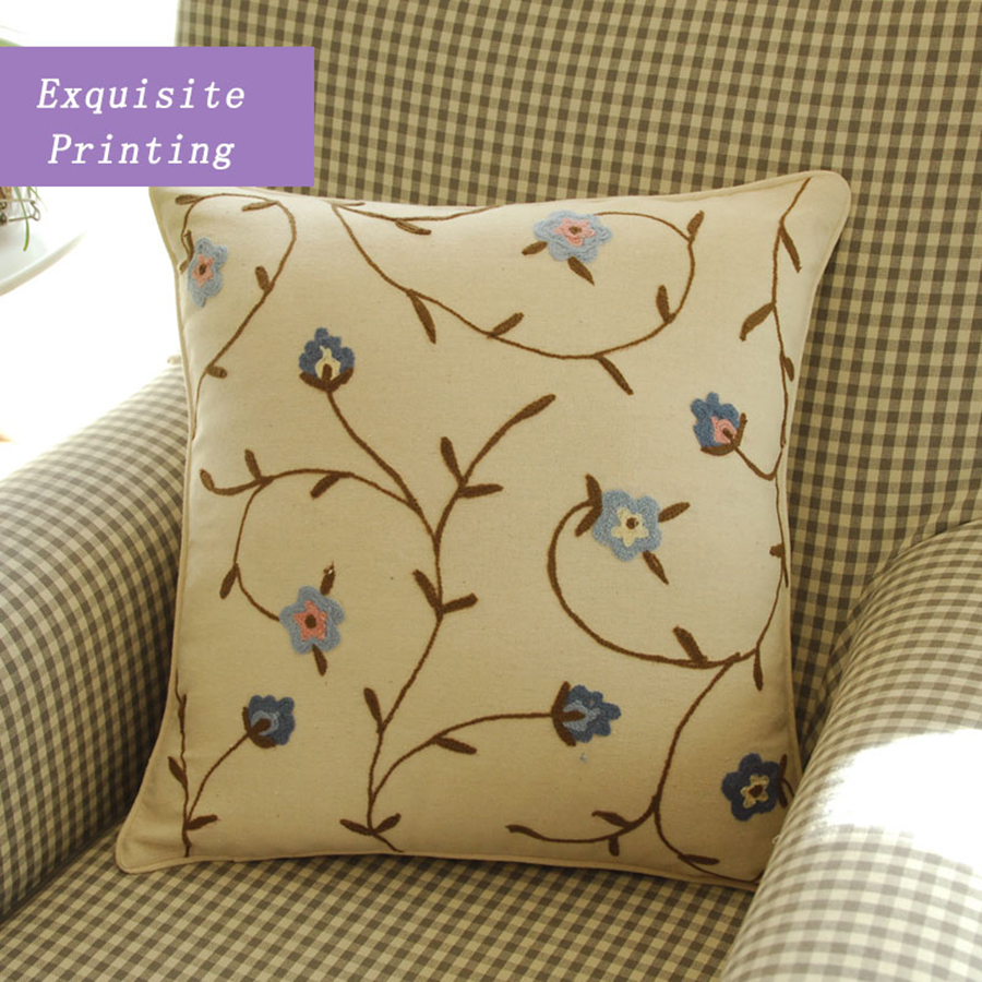 Pillowcases Flower Decorative Body Pilows Embroidery Cushions For Sofas Rural Home Dcor  ...