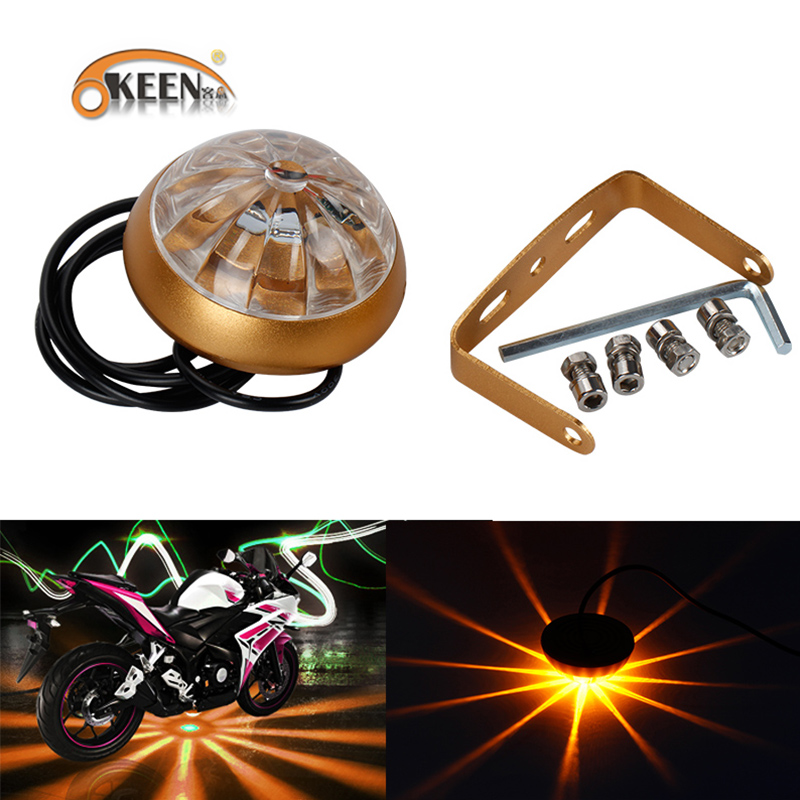 6 Color RGB LED Motorcycle Chassis Tail light Waterproof lens Anti ...