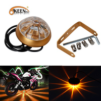 6 Color RGB LED Motorcycle Chassis Tail Light Waterproof Lens Anti Collision LED Laser Lights Parking