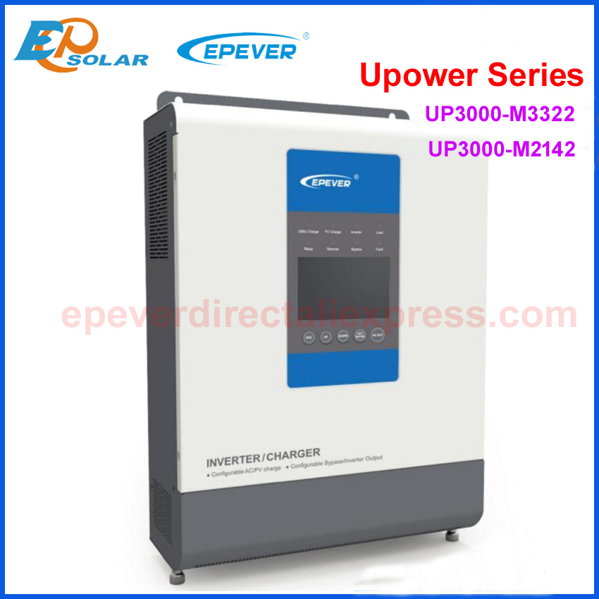 EPever UPower Inverter Caricabatterie per 24V48V Batteria Onda Sinusoidale Pura Off Grid Tie Inverter e REGOLATORE di CARICA MPPT Solare UP3000-M3322 M2142