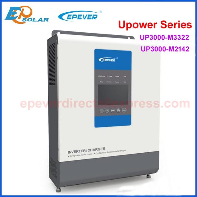 EPever cargador inversor UPower para batería de 24V y 48V, inversor de conexión a red y cargador Solar MPPT, UP3000 M3322 M2142