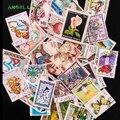 Sellos postales 100 unids/lote buen estado usado con la marca postal de todo el mundo sello marca coleccionando nueva llegada