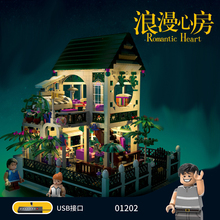 01202 1500Pcs the New Romantic Heart Set with Light USB Building Block Bricks Educational Toys For Children Girls Gifts xingbao 01202 1500pcs the new romantic heart set with light usb building block bricks educational toy valentine s day legoingys