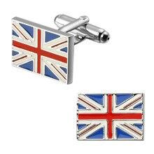 High quality fashion men's shirts Cufflinks flag British flag Cufflinks brass material wholesale and retail