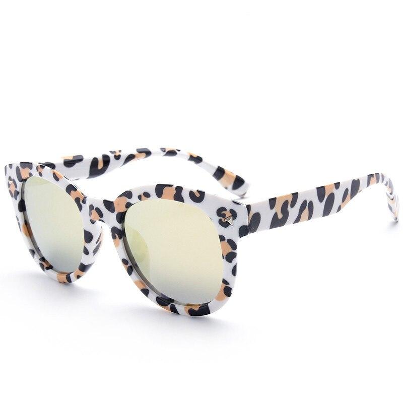 Rebites de impressão leopard óculos de Sol Do Bebê Crianças Boys   girls  bonito oculos de sol UV400 óculos de Sol linda Praia criança 3 7 anos N260  em ... be1876610f