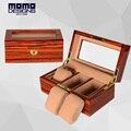 De madera caja de Reloj 3 relojes reloj vitrina caja de almacenamiento de caja de embalaje de madera de ALTA calidad para el regalo de cumpleaños