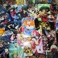 70 шт./лот YuGiOh Символов Наклейки Карты Yu-Gi-Oh! дуги V Темная Сторона Размеры Дуэль ОПГ Девушки Мультфильм Стикер Коллекции