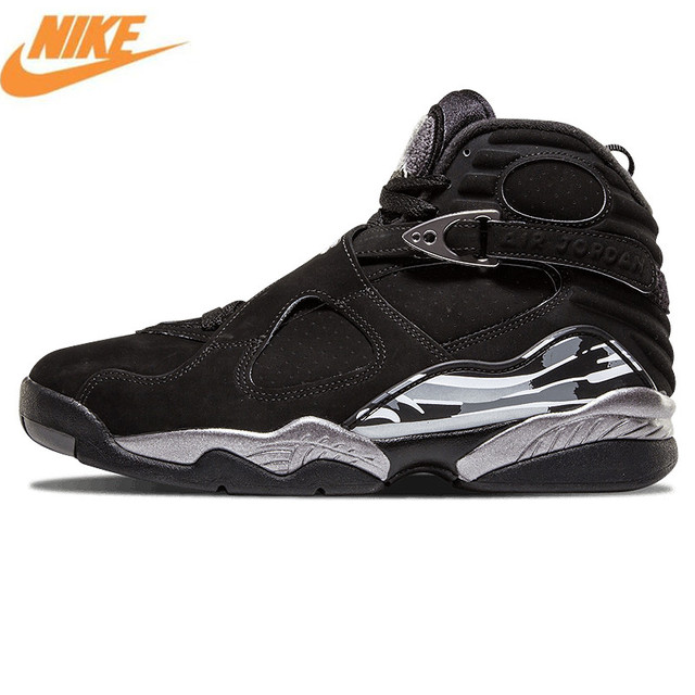 Nike Air Jordan 8 Black Silver Mens Basketball Shoes