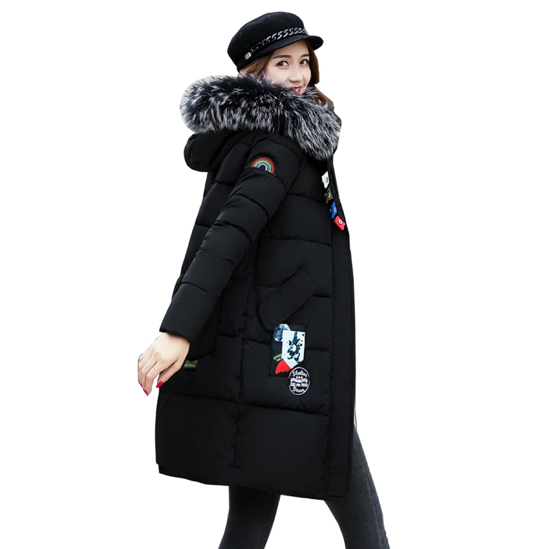 2017 winter women hooded coat fur collar thicken warm long jacket female plus size outerwear parka ladies Parkas feminino 3L84 2016 new hot winter thicken warm woman down jacket coat parkas outerwear hooded raccoon fur collar long plus size xxxl slim cold
