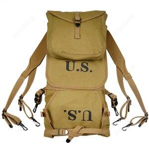 Image 1 - Repro WW2 abd ordusu M1928 sırt çantası açık sırt çantası kamp çantası yüksek kaliteli