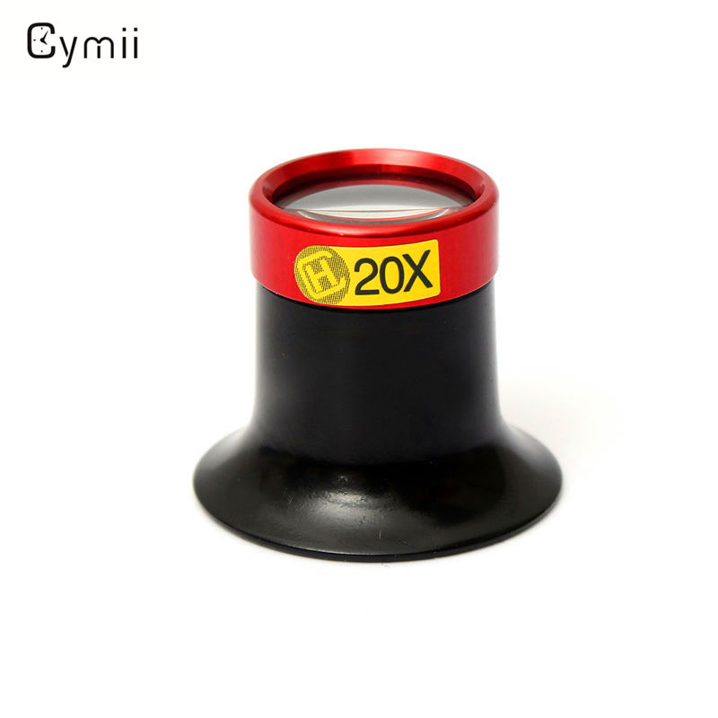 Cymii Hot Selling 20X Monocular Magnifying Glass Loupe Lens Magnifier Eyeglass Jeweler Watch Repair Tool For Professional Repair