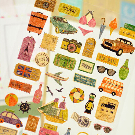 Story of Travel Decorative Sticker Set Diary Album Label Sticker DIY Scrapbooking Stationery Stickers Escolar twice 1st album twicetagram all version set 3 albums set release date 2017 11 01