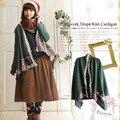 Japonês mori menina mulheres irregular doce patchwork de renda bordado teste padrão da manta bonito adorável feminino casaco cardigan vintage a018