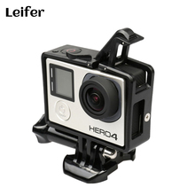 Leifer Standard Go pro Border Frame Mount Protective Housing Case for Gopro Hero 3+ 4 Action Camera Go pro 4 Accessories