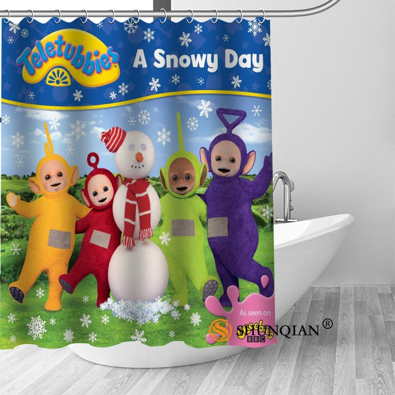 New Teletubbies Shower Curtain Bathroom Decorations For Home Waterproof Fabric Curtain Shower Bath Curtain A18.1.3