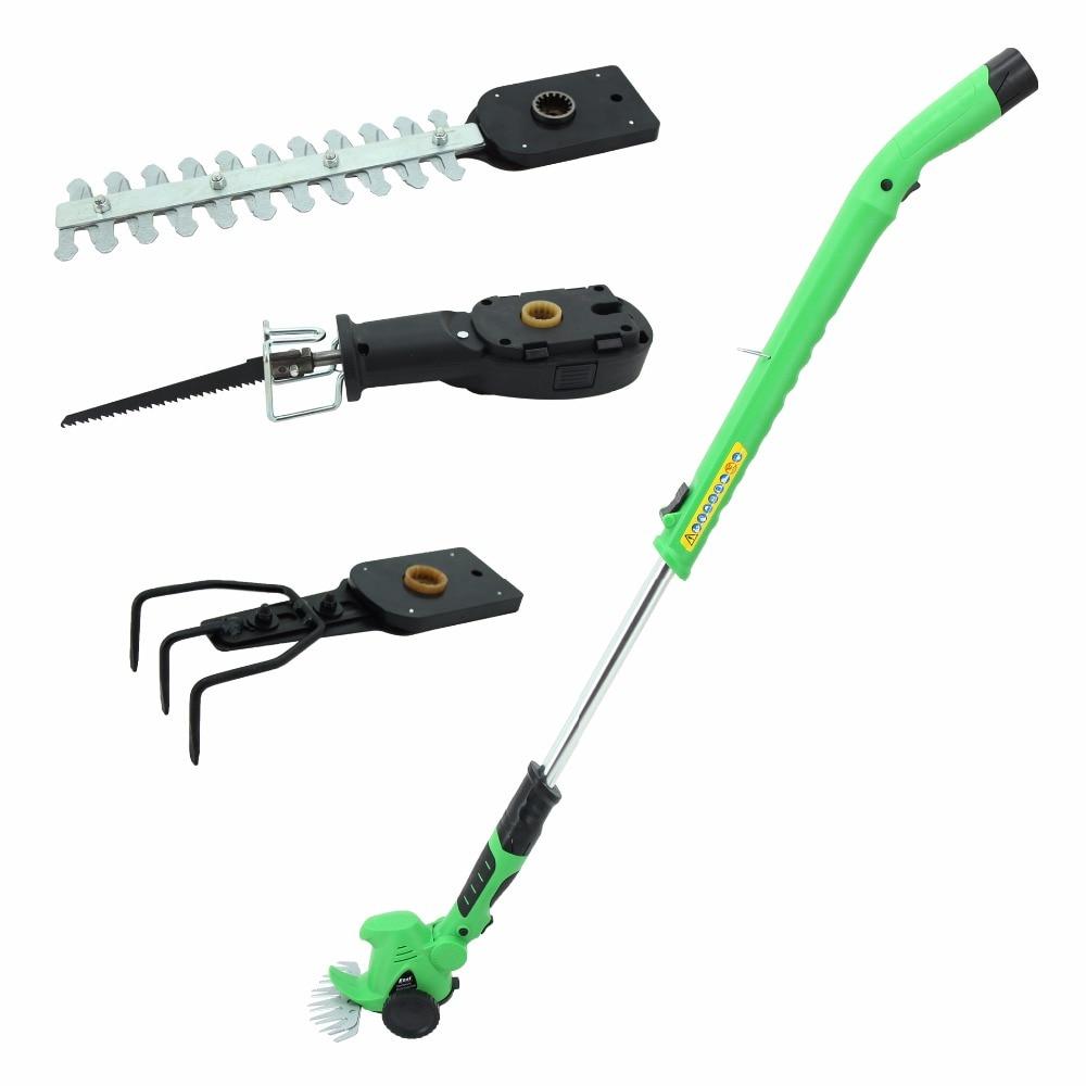 EAST Garden Power Tools 10.8V Li ion Rechargeable Battery Cordless mini scarifier Grass shear Hedge Trimmer ET1007 4in1