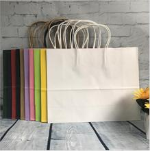 10pcs Wedding Gift Packaging Bag Recyclable Jewelry Food Bread Party Bags Custom Boutique Kraft Paper