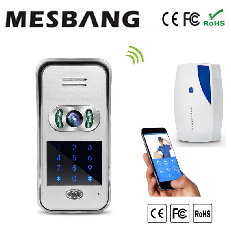 2016 New password unlock door wifi video door phone doorbell night vision 120 degree angel free shipping new forcummins insite date unlock proramm