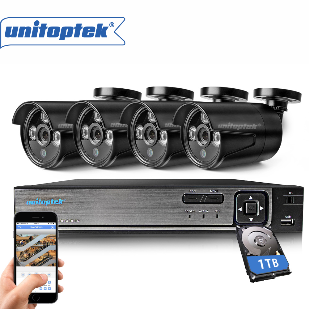 AHD 4CH CCTV System 720P 1 0MP HDMI DVR Kit 1200TVL Outdoor Security Waterproof Night Vision