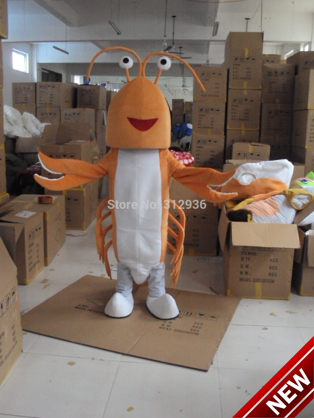 2018 New Free Shipping Lobster Langouste Mascot Costume Cartoon Character Costume Mascot Cosplay Custom Products Customized