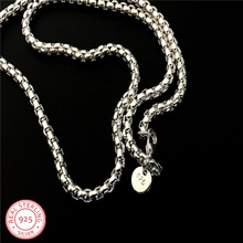 LJ&OMR  5mm 20 Russian Runway Link Chain wholesale 925 sterling silver necklace fashion chain for women men jewelry