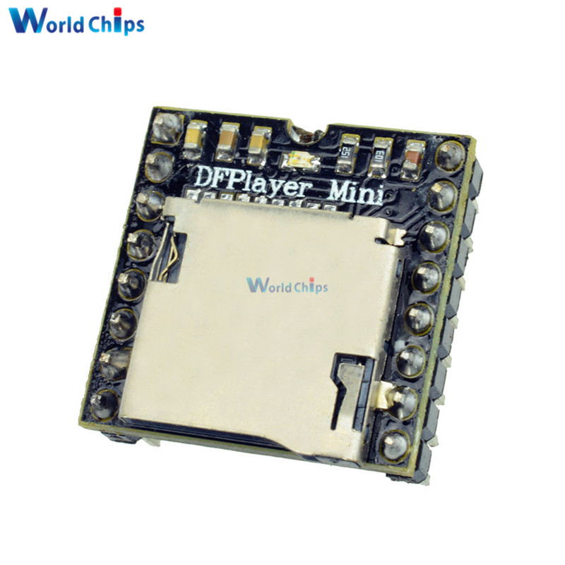 DFPlayer Mini MP3 DF Player Module Board MP3 Audio Voice Decode Board For Arduino Supporting TF Card U-Disk IO/Serial Port/AD