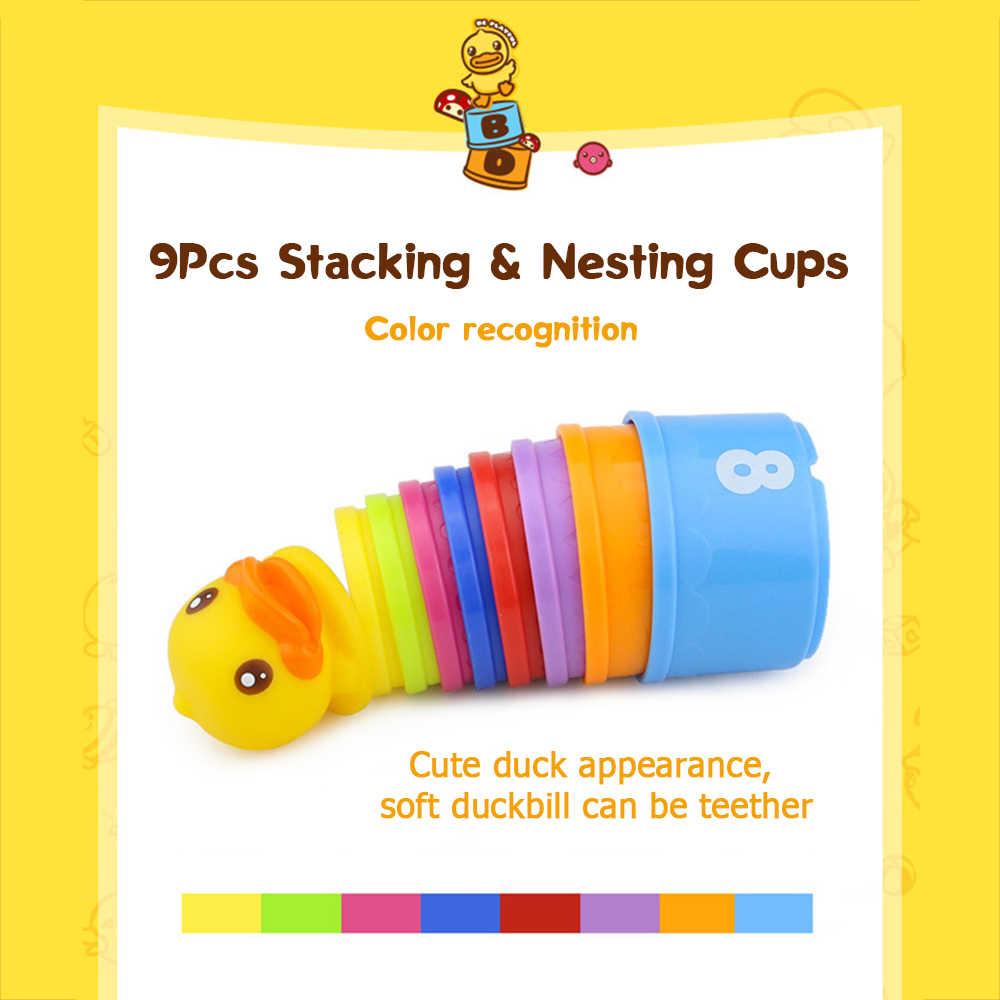 9 шт., Детские обучающие игрушки Монтессори, Детские цифры, складывающиеся стаканчики, складывающиеся стаканчики для сборки мяча, стек, радужная башня, сортировщики для детских подарков