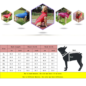 Waterproof Dog Clothes for Large Dogs Winter Warm Big Dog Jackets Padded Fleece Pet Coat Safety Reflective Design Dog Clothing 5