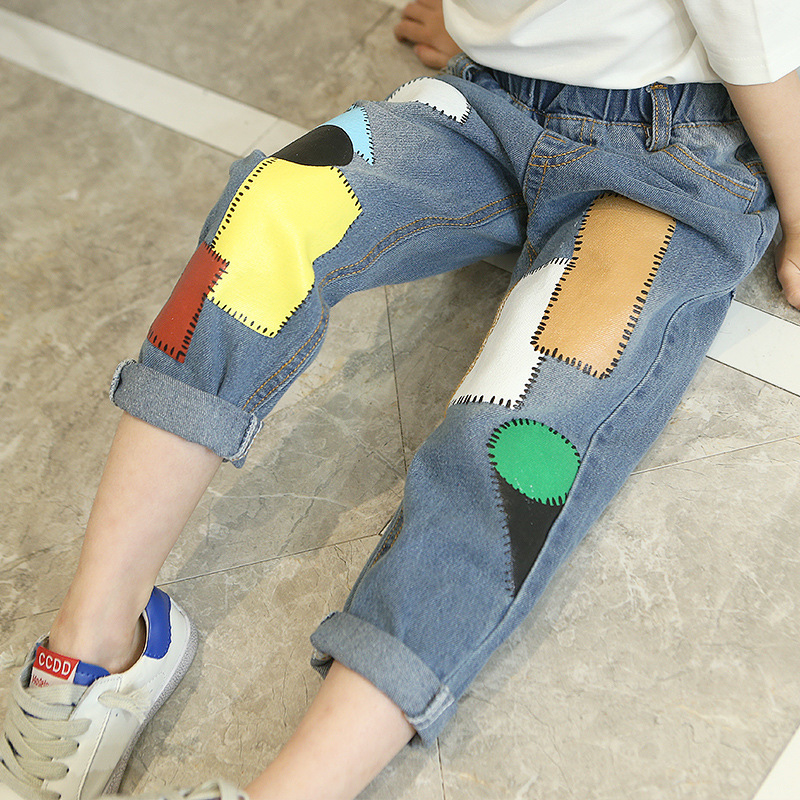 2019 Autumn New Arrival Kids Printed Jeans Kids Denim Pants Girls Jeans Kids Jeans(China)
