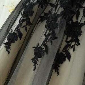 Image 5 - 2020 plaża suknia ślubna czarny/szampana koronki tiul 3/4 rękaw Sweetheart Tea długość suknie ślubne Vestido De Noiva Plus rozmiar