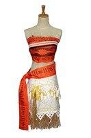 Free Shipping Movie Princess Moana Costume For Kids Adult Moana Princess Dress Cosplay Costume Halloween Costume