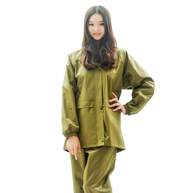 High Quality Men Women Raincoat Suit Windproof Motorcycle Electrombile Rainwear Thicken Rain Coat Pants