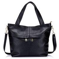 Nova bolsa em Couro Genuíno Preto Michaeled Tote Sacos de Pele Verdadeira Grande Bolsa das Mulheres Autênticas Bolsas Bolsa Saco para As Mulheres Do Sexo Feminino sacos