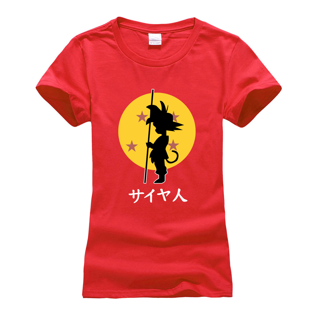hipster women streetwear tops tee brand clothes Japanese anime Dragon Ball Z Super Saiyan t shirt tee shirt 2018 summer camiseta
